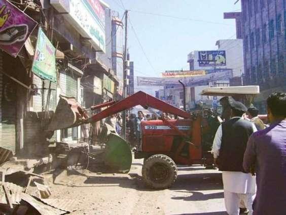 Anti- encroachment operation in Hub area