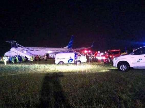 Indonesian plane skids off runway