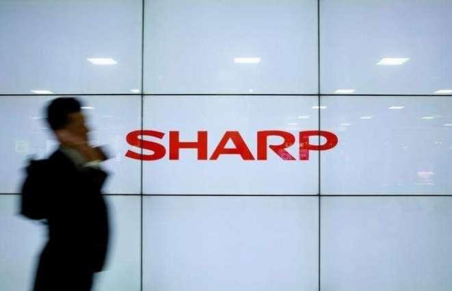 Sharp net loss shrinks more than 60%
