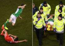 Football: Coleman horror injury mars Ireland-Wales draw