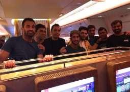 Peshawar Zalmi Squad arrives in Lahore