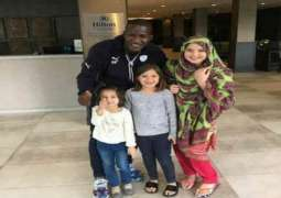 Darren Sammy with Shahid Afridi's Daughters