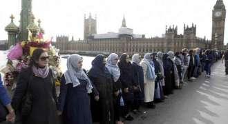 Vigil at scene of London terror attack
