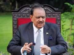 الرئيس الباكستاني يأمل في أن تحل قضيتي كشمير و فلسطين وفق تطلعات ورغبات الشعب الكشميري والفلسطيني
