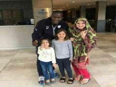 Darren Sammy with Shahid Afridi's Daughters