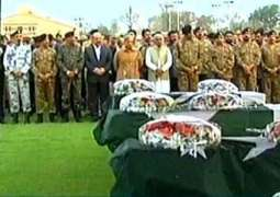 Funeral prayer of Bedia Road martyrs take place in Ayub Stadium