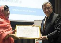 Malala Yousafzai, youngest U.N Messenger of Peace
