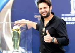 Shahid Afridi among 8 ambassadors for Champions Trophy