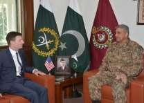 امریکی سفیر ڈیوڈ ہیل دی آرمی چیف جنرل قمر جاوید باجوہ نال ملاقات