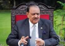 الرئيس الباكستاني يؤكد على ضرورة جعل رابط