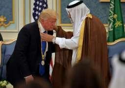 سعودی شاہ دا ڈونلڈ ٹرمپ نوں سونے دی تلوار، ہیرے تے 80کروڑ ڈالر دی کشتی دا تحفہ