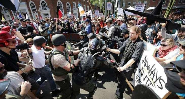 Car rams into crowd at violent Virginia rally: witnesses
