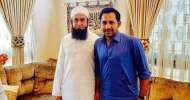 قومی کرکٹ ٹیم دے کپتان سرفراز احمد دی مشہور عالم دین مولانا طارق جمیل نال ملاقات
