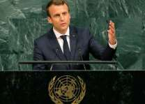 France's Macron at UN says climate deal will not be renegotiated