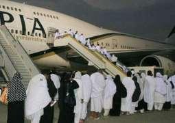 First post-Haj flight lands at Benazir Bhutto Intl Airport; Tariq Fazal Ch. received Hujjaj