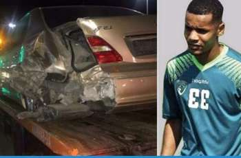 متحدہ عرب امارات: اماراتی فٹ بالر حادثے وچ وال وال بچ گیا