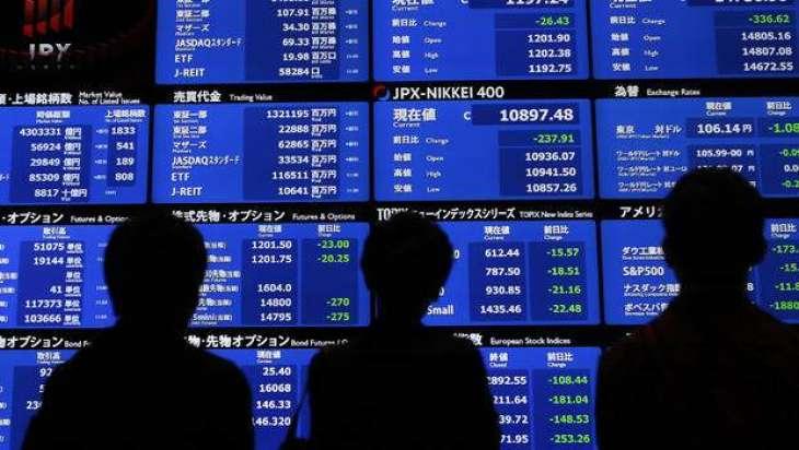 Stocks slide on China data, pound shoots higher