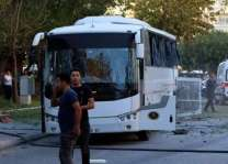 12 wounded in bomb attack on Turkish police bus: reports