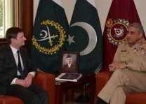 آرمی چیف جنرل قمر جاوید باجوہ نال امریکی سفیر دی ملاقات، سکیورٹی صورتحال بارے وچار وٹاندرا