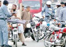 30 vehicles challaned on violation traffic law in Quetta