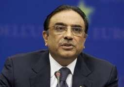 Asif Zardari condoles death of sister of Rahimdad Khan