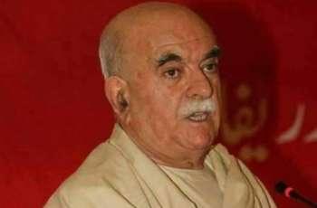 محمود خان اچکزئی نے پارلیمنٹ وچ فلسطین دے حق وچ قرارداد پیش کرن دی مخالفت کر دتی
