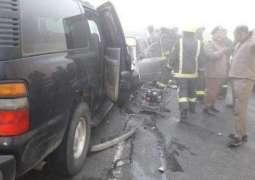 سعودی شہر باحہ وچ ٹریفک حادثہ، 1ہلاک، 7زخمی