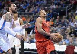 NBA: Trail Blazers silence Thunder while Heat edge Raptors