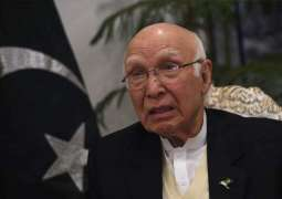 People of Pakistan united on CPEC: Sartaj Aziz.