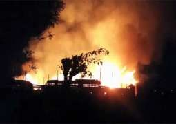 Medical store of Aziz Bhatti Shaheed Hospital gutted
