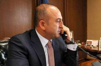 ترکی وزیر خارجہ دی روسی ہم منصب نال ٹیلی فون تے گال بات