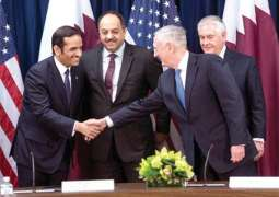 To strengthen security dialogue and cooperation and combat human trafficking Qatar and US launch strategic dialogue with partnership agreements