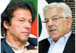 Khawaja Asif is a grave security risk: Imran Khan
