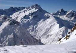 Avalanche warning in snow-capped areas of Hindukush