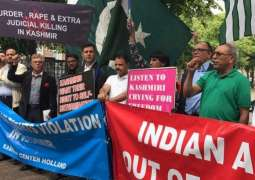 KC EU holds demo in Brussels for solidarity with Kashmiris