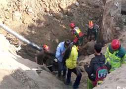 Orange Line Train: Five laborers buried under mud while working