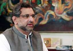 Negotiations only way to resolve Afghan problem instead of military way: PM Abbasi
