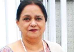 JUI-F senator objects to Nasreen Jalil's sari, tells her to have 'an appearance like Muslims'