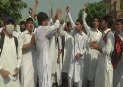 FATA students protest against FDA, biased police behaviour