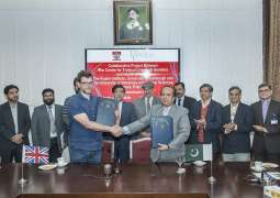 UVAS Department of Parasitology sign agreement with two scientist from Roslin Institute as part of collaborative project (CTLGH)