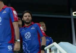 Shahid Afridi gets injured during PSL 2018 match Against Quetta Gladiators
