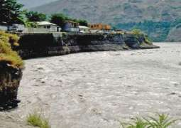 Chitral river being polluted by dumping waste, sewerage water