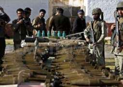 FC seizes huge cache of arms, explosives in Balochistan: ISPR