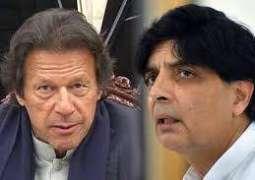 Chaudhry Nisar has shown dignity, says Imran Khan