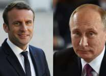 Macron congratulates Putin on re-election