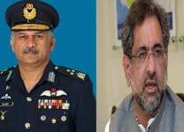 Chief of the Air Staff Air Chief Marshal Mujahid Anwar Khan called on Prime Minister Shahid Khaqan Abbasi