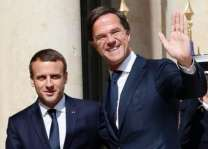 On EU summit eve, Macron visits Dutch PM to talk reform
