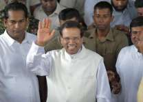 Sri Lankan president leaves for home