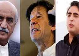 Imran Khan, Bilawal Bhutto , Khursheed Shah lashes out at Govt over fuel price hike