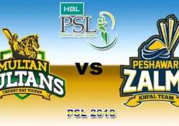 PSL 3: Multan Sultans to play against Peshawar Zalmi - Live Updates